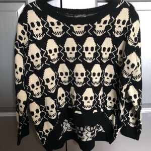 Skull knit sweater